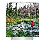 Alpine Pond On Alpine Pond Trail In Cedar Breaks National Monument-utah Shower Curtain