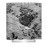 Alpinists On Glacier Shower Curtain
