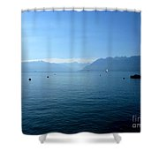 Alps And Leman Lake Shower Curtain