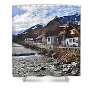 Alps Vicinity Shower Curtain