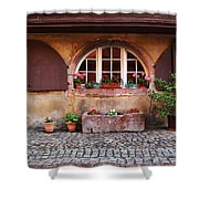 Alsatian Home In Kaysersberg France Shower Curtain by Greg Matchick