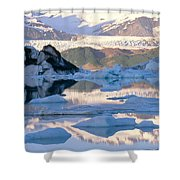 Alsek Glacier In St. Elias Mountains Shower Curtain