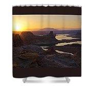 Alstrom Point Sunrise  Shower Curtain