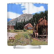 Alta In Colorado Shower Curtain by Guido Borelli