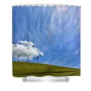Altamont Windmills Shower Curtain