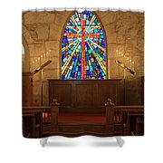 Altar At The Little Church In La Villita Shower Curtain