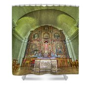 Altar In An Old Chapel Shower Curtain