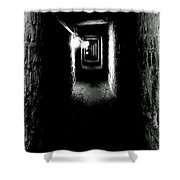 Altered Image Of The Catacomb Tunnels Paris France  Shower Curtain