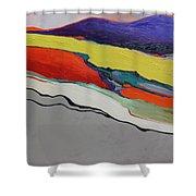 Altered Landscape Shower Curtain