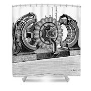 Alternating-current Dynamo Shower Curtain
