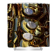Alto Sax Reflections Shower Curtain by Ken Smith