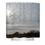 Altocumulus Sun Shower Curtain