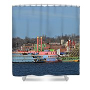 Alton Belle Casino Shower Curtain by Peggy Franz