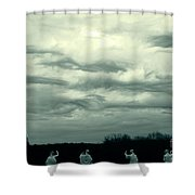 Altostratus Undulatus Asperatus Clouds Shower Curtain