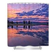 Alum Creek Sunrise Shower Curtain