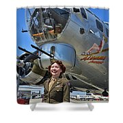 Aluminum Overcast 2 Shower Curtain