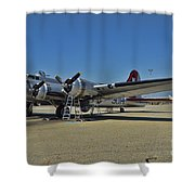 Aluminum Overcast 5 Shower Curtain