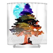 Always Dream - Inspirational Art By Sharon Cummings Shower Curtain