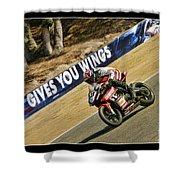 Ama Superbike Cory West Shower Curtain