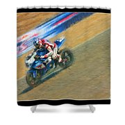 Ama Superbike Martin Cardenas Shower Curtain