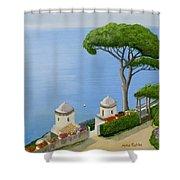 Amalfi Coast From Ravello Shower Curtain