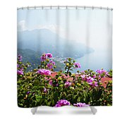 Amalfi Coast View From Ravello Italy  Shower Curtain