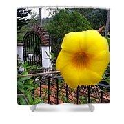 Amarillo La Flor Shower Curtain