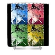 Amaryllis Pop Art Shower Curtain