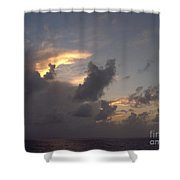 Amazing Clouds At Sunset Shower Curtain