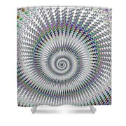 Amazing Fractal Spiral With Great Depth Shower Curtain