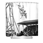 Amazing Horse Stunt Dive Shower Curtain