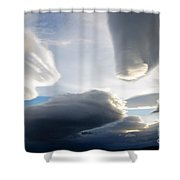 Amazing Skies Over Puerto Natales Chile Shower Curtain