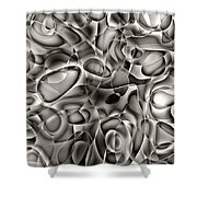 Amazing World Of Cells - Black And White Shower Curtain