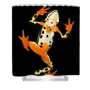 Amazon Harlequin Toad Shower Curtain