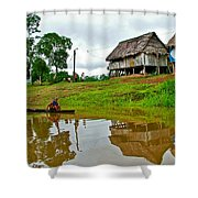 Amazon River Reflections-peru  Shower Curtain