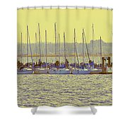 Amber At White Rock Shower Curtain