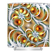 Amber Clusters Shower Curtain