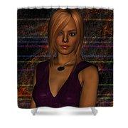 Amber Digital Portait Shower Curtain