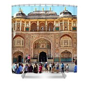 Amber Fort Entrance To Living Quarters - Jaipur India Shower Curtain