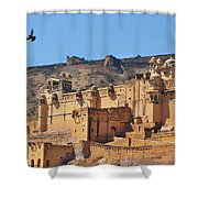 Amber Fort View - Jaipur India Shower Curtain