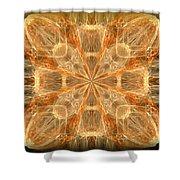 Amber Fractal Shower Curtain