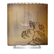 Amber Vision Shower Curtain by Bedros Awak