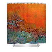 Amber Winter Shower Curtain