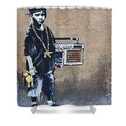 Ambivalence Banksy Shower Curtain