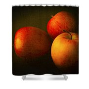 Ambrosia Apples Shower Curtain by Theresa Tahara