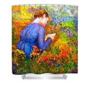 Ambrosia's Love Letter Shower Curtain by Michael Durst