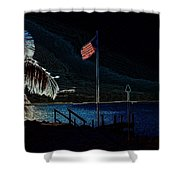 America All The Way 8 Shower Curtain
