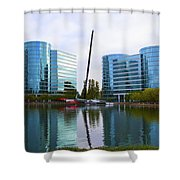 America Cup Winner Oracle Team Usa In Redwood City Ca Shower Curtain