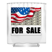 America For Sale Shower Curtain