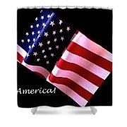 America Greeting Card Shower Curtain